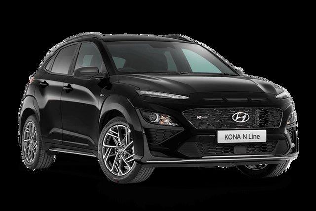 Demo Hyundai Kona N Line Rutherford, 2021 Hyundai Kona OS.V4 N Line Phantom Black 7 Speed Automatic SUV