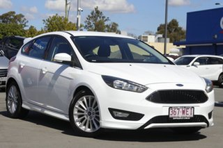 2016 Ford Focus LZ Sport White 6 Speed Manual Hatchback.
