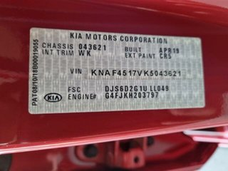 2019 Kia Cerato BD MY19 GT Safety Pack Red 7 Speed Auto Dual Clutch Hatchback