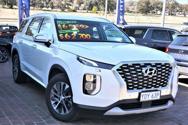 Demo Hyundai Palisade LX2.V1 MY21 2WD Phillip, 2021 Hyundai Palisade LX2.V1 MY21 2WD White Cream 8 Speed Sports Automatic Wagon
