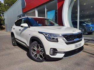 2021 Kia Seltos SP2 MY21 GT-Line DCT AWD White 7 Speed Sports Automatic Dual Clutch Wagon.