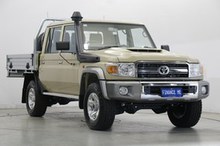 2021 Toyota Landcruiser VDJ79R GXL Double Cab Sandy Taupe 5 Speed Manual Cab Chassis