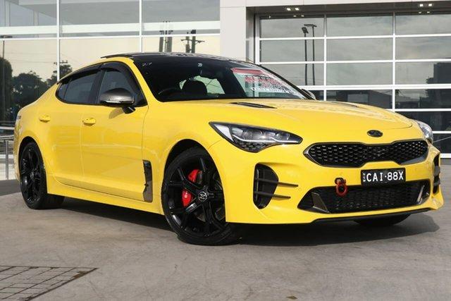 Used Kia Stinger CK MY18 GT Fastback Liverpool, 2017 Kia Stinger CK MY18 GT Fastback Sunset Yellow 8 Speed Sports Automatic Sedan