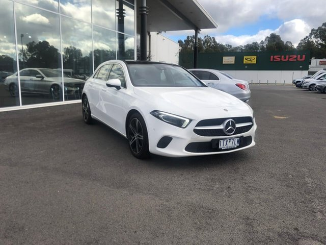 Used Mercedes-Benz A-Class W177 A200 DCT Epsom, 2018 Mercedes-Benz A-Class W177 A200 DCT White 7 Speed Sports Automatic Dual Clutch Hatchback