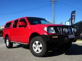 2010 Nissan Navara D40 ST (4x4) Red 5 Speed Automatic Dual Cab Pick-up.