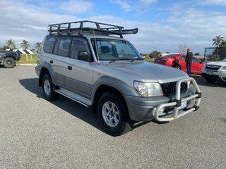 2001 Toyota Landcruiser Prado VZJ95R GXL (4x4) Silver 4 Speed Automatic 4x4 Wagon.