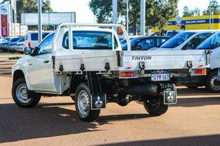 2019 Mitsubishi Triton MR MY20 GLX 4x2 White 5 Speed Manual Cab Chassis.