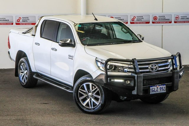 Pre-Owned Toyota Hilux GUN126R SR5 Double Cab Myaree, 2018 Toyota Hilux GUN126R SR5 Double Cab Glacier White 6 Speed Sports Automatic Utility