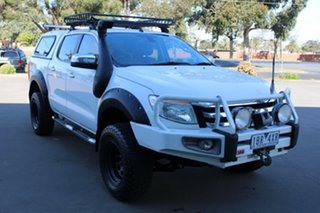 2012 Ford Ranger PX XLT 3.2 (4x4) White 6 Speed Automatic Dual Cab Utility.
