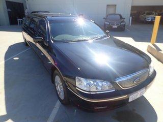 2004 Ford Fairmont BA MkII Ghia Black Magic 4 Speed Auto Seq Sportshift Sedan.