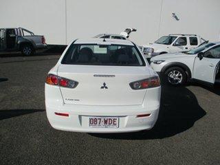 2014 Mitsubishi Lancer CJ MY14 ES White 5 Speed Manual Sedan.