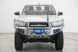 2018 Toyota Hilux GUN126R SR Double Cab Silver 6 Speed Sports Automatic Utility.
