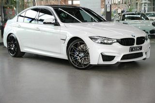 2018 BMW M3 F80 LCI Competition M-DCT White 7 Speed Sports Automatic Dual Clutch Sedan.