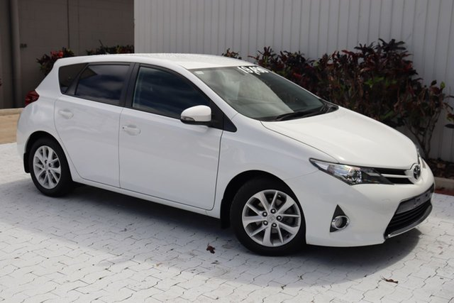 Used Toyota Corolla ZRE182R Ascent Sport S-CVT Cairns, 2014 Toyota Corolla ZRE182R Ascent Sport S-CVT White 7 Speed Constant Variable Hatchback