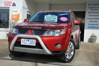 2008 Mitsubishi Outlander ZG MY08 VR-X (7 Seat) Red 6 Speed Auto Sports Mode Wagon.