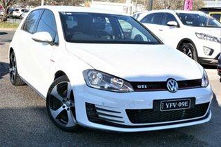 2014 Volkswagen Golf VII MY14 GTi Pure White 6 Speed Manual Hatchback.