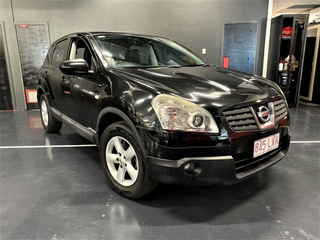 Used Nissan Dualis J10 MY2009 Ti X-tronic AWD Ashmore, 2009 Nissan Dualis J10 MY2009 Ti X-tronic AWD Metallic Black 6 Speed Constant Variable Hatchback
