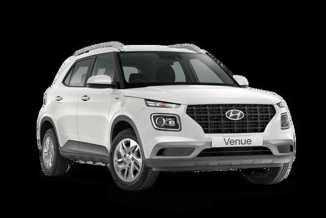 New Hyundai Venue QX.V3 MY21 Hamilton, 2021 Hyundai Venue QX.V3 MY21 Polar White 6 Speed Automatic Wagon