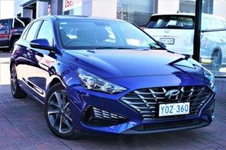 2021 Hyundai i30 PD.V4 MY21 Elite Intense Blue 6 Speed Sports Automatic Hatchback.