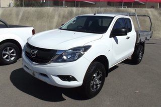 2016 Mazda BT-50 UR0YG1 XT Freestyle 4x2 Hi-Rider White 6 Speed Manual Cab Chassis.