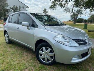 2011 Nissan Tiida C11 S3 ST Silver 4 Speed Automatic Hatchback.