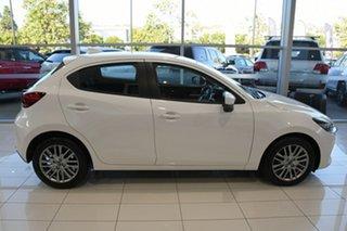 2021 Mazda 2 DJ2HAA G15 SKYACTIV-Drive Evolve Snowflake White Pearl 6 Speed Sports Automatic.