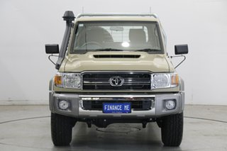 2021 Toyota Landcruiser VDJ79R GXL Double Cab Sandy Taupe 5 Speed Manual Cab Chassis.