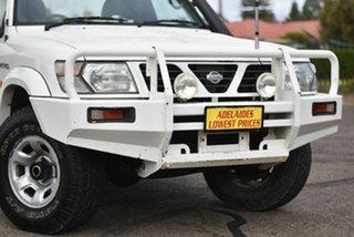 1999 Nissan Patrol GU DX White 5 Speed Manual Cab Chassis