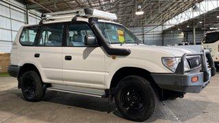 1999 Toyota Landcruiser Prado VZJ95R RV6 White 5 Speed Manual Wagon.