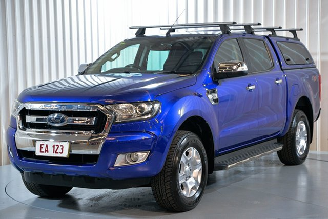 Used Ford Ranger PX MkII XLT Double Cab Hendra, 2016 Ford Ranger PX MkII XLT Double Cab Blue 6 Speed Sports Automatic Utility