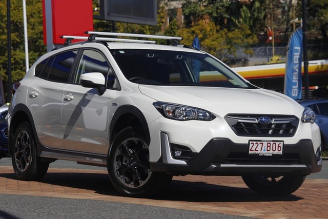 Demo Subaru XV G5X MY21 Hybrid L Lineartronic AWD Newstead, 2021 Subaru XV G5X MY21 Hybrid L Lineartronic AWD Crystal White 7 Speed Constant Variable Wagon