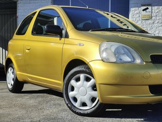 2002 Toyota Echo NCP10R Yellow 4 Speed Automatic Hatchback.