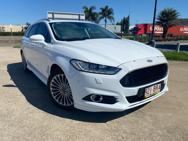 Used Ford Mondeo MD Titanium Townsville, 2016 Ford Mondeo MD Titanium White/270917 6 Speed Sports Automatic Dual Clutch Wagon