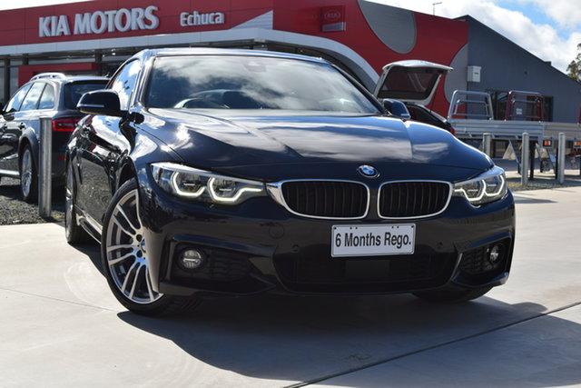 Used BMW 4 Series F32 LCI 440i Echuca, 2019 BMW 4 Series F32 LCI 440i Black 8 Speed Sports Automatic Coupe