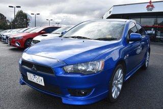 2008 Mitsubishi Lancer CJ MY08 VR-X Blue 5 Speed Manual Sedan.