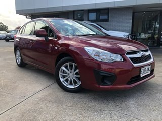2013 Subaru Impreza G4 MY13 2.0i Lineartronic AWD Red 6 Speed Constant Variable Hatchback.