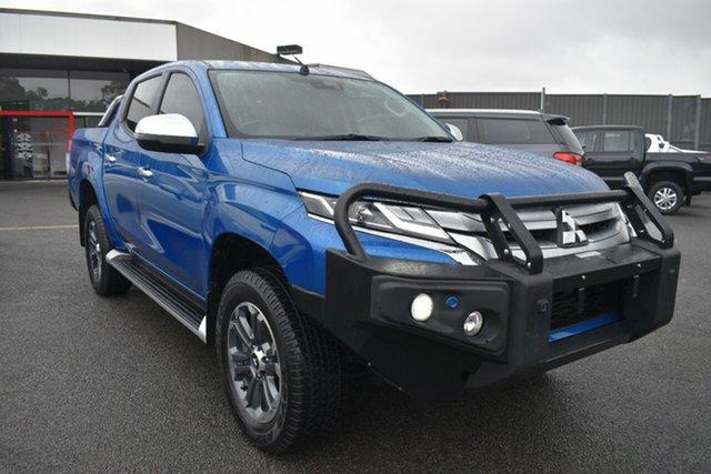 Used Mitsubishi Triton MR MY19 GLS Double Cab Wantirna South, 2019 Mitsubishi Triton MR MY19 GLS Double Cab Blue 6 Speed Manual Utility