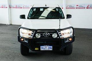 2018 Toyota Hilux GUN126R MY17 SR (4x4) Glacier White 6 Speed Automatic Dual Cab Utility.