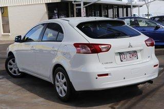 2011 Mitsubishi Lancer CJ MY12 ES Sportback White 6 Speed Constant Variable Hatchback.
