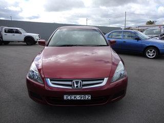 2007 Honda Accord 40 MY06 Upgrade VTi Ruby Red 5 Speed Automatic Sedan.