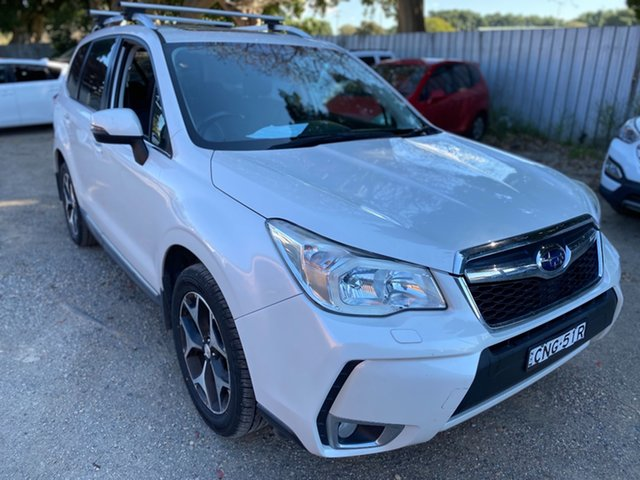 Used Subaru Forester S4 MY13 XT Lineartronic AWD Wickham, 2013 Subaru Forester S4 MY13 XT Lineartronic AWD Satin White 8 Speed Constant Variable Wagon