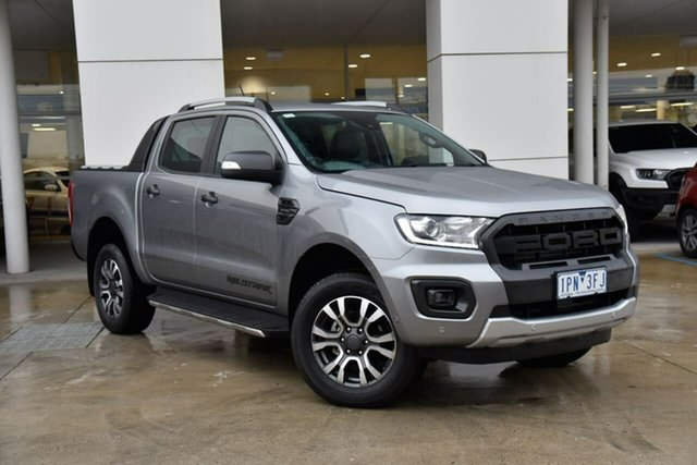 Used Ford Ranger PX MkIII 2019.75MY Wildtrak Oakleigh, 2019 Ford Ranger PX MkIII 2019.75MY Wildtrak Silver 10 Speed Sports Automatic Double Cab Pick Up