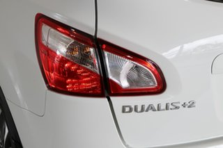 2012 Nissan Dualis J107 Series 3 MY12 +2 Hatch X-tronic 2WD Ti White 6 Speed Constant Variable