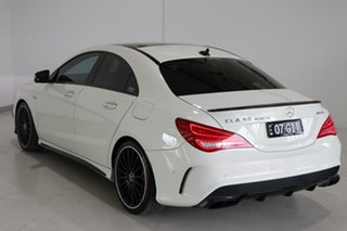 2015 Mercedes-Benz CLA-Class C117 805+055MY CLA45 AMG SPEEDSHIFT DCT 4MATIC White 7 Speed.