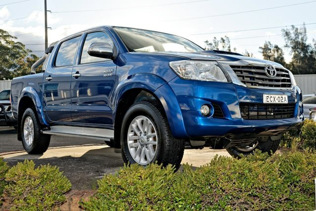 Used Toyota Hilux KUN26R MY14 SR5 Double Cab North Gosford, 2015 Toyota Hilux KUN26R MY14 SR5 Double Cab Blue 5 Speed Automatic Utility