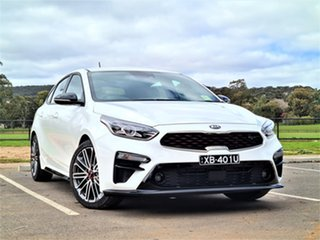 2021 Kia Cerato BD MY21 GT DCT Snow White Pearl 7 Speed Sports Automatic Dual Clutch Hatchback.