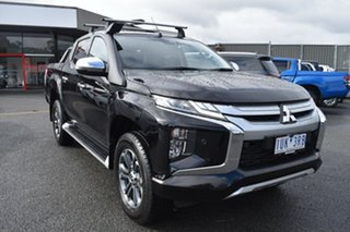 2019 Mitsubishi Triton MR MY19 GLS Double Cab Black 6 Speed Sports Automatic Utility.