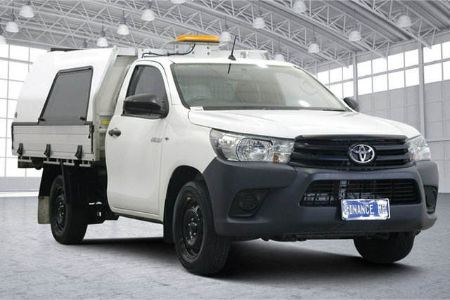 Used Toyota Hilux TGN121R Workmate 4x2 Victoria Park, 2016 Toyota Hilux TGN121R Workmate 4x2 White 6 Speed Sports Automatic Cab Chassis