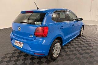 2016 Volkswagen Polo 6R MY16 66TSI DSG Trendline Blue 7 speed Automatic Hatchback