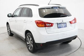 2014 Mitsubishi ASX XB MY15 LS 2WD White 6 Speed Constant Variable Wagon.